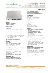Innovaphone IP3010 01-03010-001 Leaflet