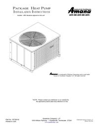 Amana Heat Pump 10730418 User Manual