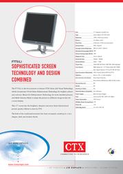CTX F773 Leaflet