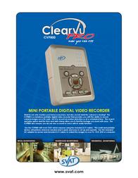 Svat Mini Handheld DVR CVP800 Leaflet