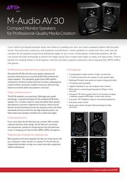 M-AUDIO Studiophile AV30 II 9900-65139-09 User Manual