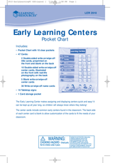 Learning Resources Learning Resources, Inc. Watch LER 2910 Leaflet