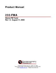 Contemporary Research 232-FMA User Manual