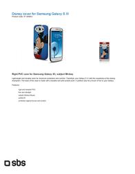 SBS Disney IP-1859EU Leaflet