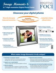 Digital Foci Image Moments 6 Folheto