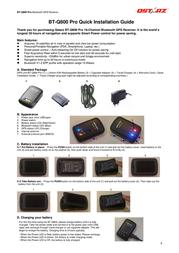 Qstarz bt-q800 Installation Instruction