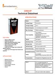 Xcell 9 V / PP3 battery Lithium 9 V Lithium-Block 1200 mAh 9 V 1 pc(s) 138482 Data Sheet