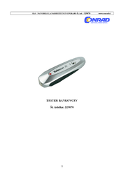 Safescan Counterfeit money detector with built-in light tube 112-0267 Data Sheet