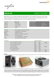 Nexus Value 430   430Watt Compact 80PLUS Real Silent Power Supply VALUE 430 Leaflet