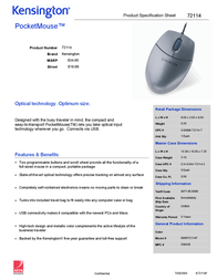 Acco PocketMouse for Notebook 72114 Leaflet