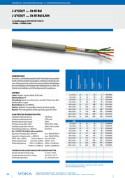 Voka Kabelwerk Data cable J-2Y(St)Y … St III Bd 6 x 2 x 0.6 mm Grey 103362-00 Sold per metre 103362-00 Data Sheet