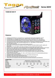 Tagan TG900-BZ 900 W TG900-BZ900 Leaflet