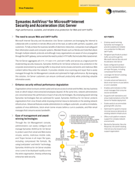 Symantec ANTIVIRUS FOR MS ISA SERVER 10149637-IN Leaflet