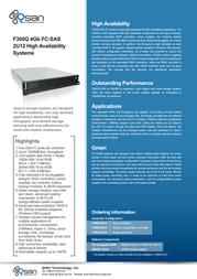 Qsan Technology AegisSAN F300Q F300Q-S212 Leaflet