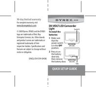 Dynex 09-0406 Leaflet