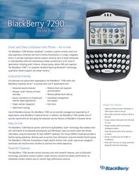 Vodafone BLACKBERRY 7290 ENTERPRISE & WEBCLIENT EDITION 4048017 Leaflet