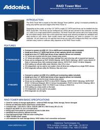Addonics RAID Tower Mini RTM435R5 Leaflet