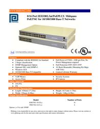 Phihong POE576U-8HPN User Manual