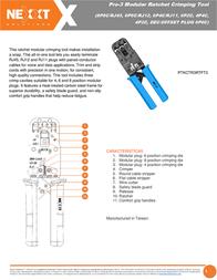 Nexxt Solutions Terminal Pro-3 PTKCTR3RTFT3 Leaflet
