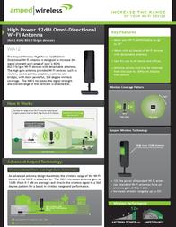 Amped Wireless WA12 Leaflet