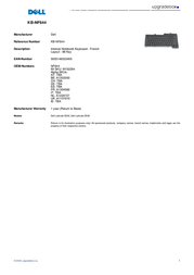 Origin Storage Internal Notebook Keyboard - French KB-NF644 Leaflet
