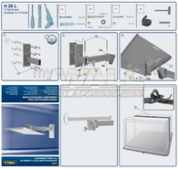 myWall H 20 L H 20 L Standard TV Wall bracket for LCD, LED and Plasma TVs Steel H 20 L Data Sheet