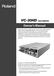 Roland Water Pump VC-30HD User Manual