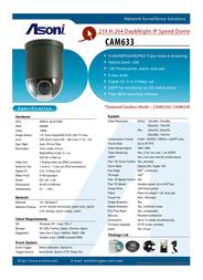 Asoni CAM633 Leaflet
