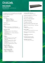 OvisLink FSH2402G Leaflet