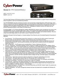 CyberPower PR1500SWRM2U Leaflet