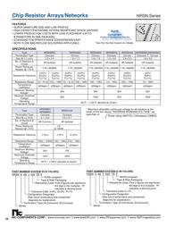 Nic Components Resistor ladder 390 Ω SMD 1206 0.06 W 5 % NRSN06I4J391TRF 5000 pc(s) NRSN06I4J391TRF Data Sheet