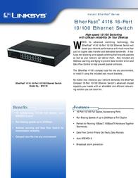 Linksys EtherFast® 4116 16-Port 10/100 Ethernet Switch EF4116-EU Leaflet
