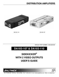 ALTINEX SIDEKICKER DA103-107 User Manual