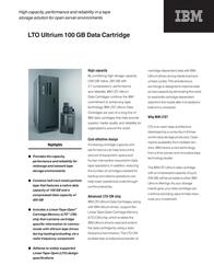 IBM CARTRIDGE ULTRIUM 100/200GB (1 STUK) 08L9120 Leaflet