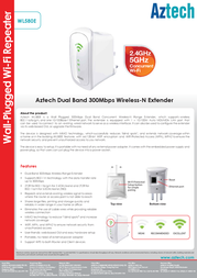 Aztech WL580E Product Datasheet