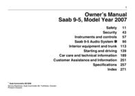 Saab 9-5 2007 User Manual