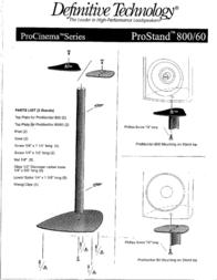 Definitive Technology Pro Stand PROSTAND600800 Leaflet