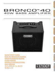 Fender BRONCO 40 User Manual