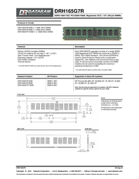 Dataram DRH165G7R/16GB Leaflet