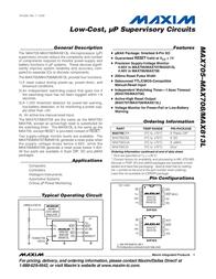 Maxim Integrated MAX813LCUA+ Linear IC MAX813LCUA+ Data Sheet