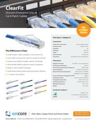 Oncore ClearFit Cat6 10262 Leaflet