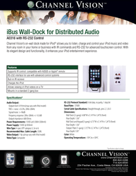 Channel Vision A0316 Leaflet