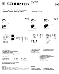 Schurter Fuse holder Suitable for MELF 7 A 125 Vac 7090.9010 1 pc(s) 7090.9010 Data Sheet