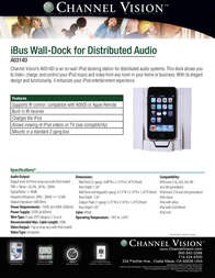 Channel Vision A-0314D Leaflet