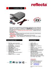 Reflecta CrystalScan 7200 149683 Leaflet