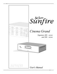 Sunfire 200 seven User Manual