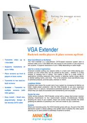 Minicom Advanced Systems VGA Extender 0VS23077A Leaflet