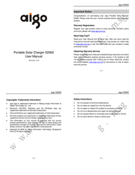 Aigo S2902 User Manual