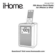 iHome IP40 IP40WV User Manual