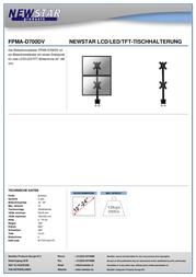 "Newstar Products 2 x Monitor desk mount 10"" - 24"" Swivelling/tiltable, Swivelling FPMA-D700DV Data Sheet"